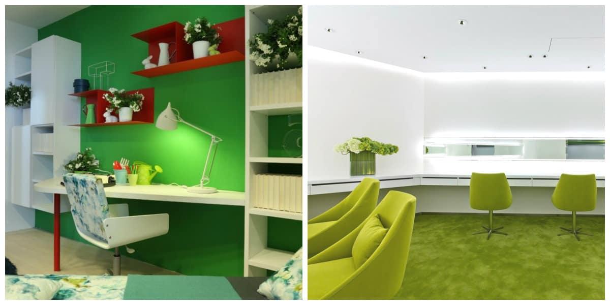 Oficina verde 8 decoraci n hogar for Decoracion hogar verde