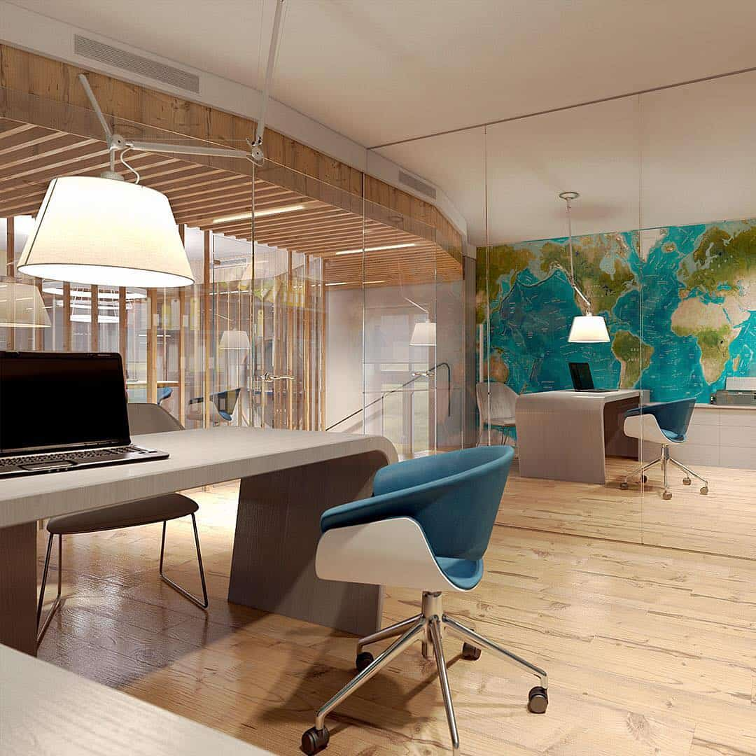 Oficinas 2020; Diseño estético del interior de la oficina