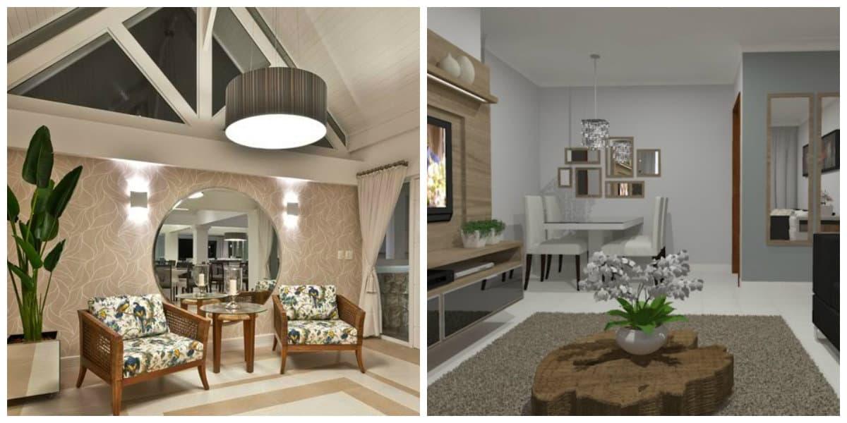 Sala de entrada- durabilidad de materiales, paredes y techos