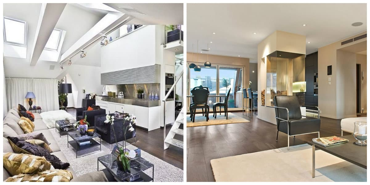 Sala de estar moderna dise o industrial de la sala de estar for Sala moderna 2018