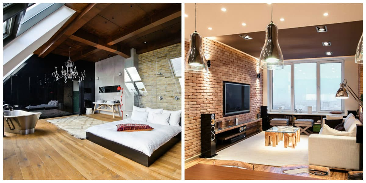 Sala de estar moderna dise o industrial de la sala de estar for Sala de estar noche