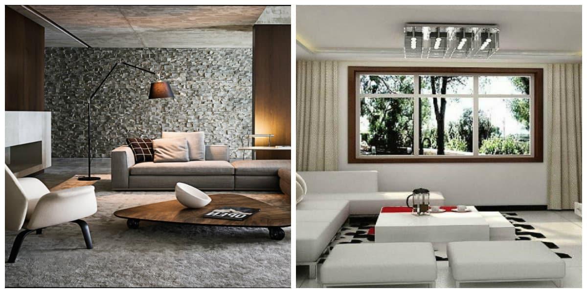 Salas de estar modernas- colores de muda y muy calmantes