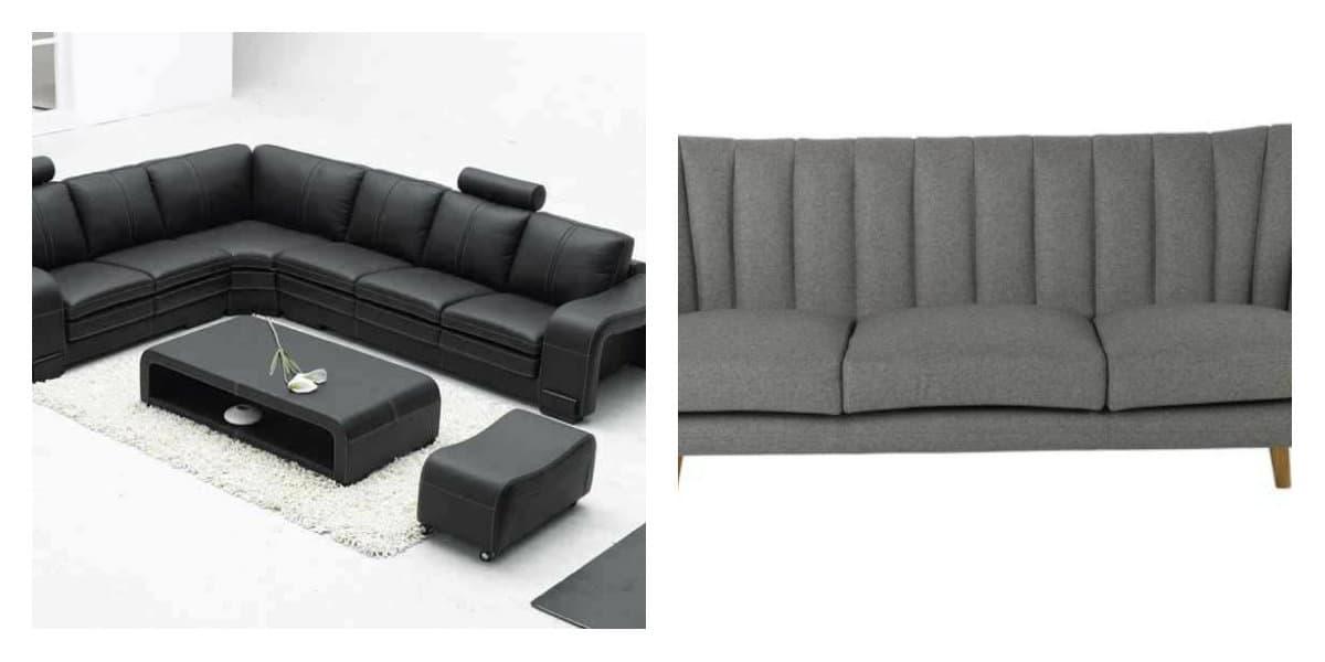 Sofás modernos 2018- decoracion de salas de estar en estilo moderno
