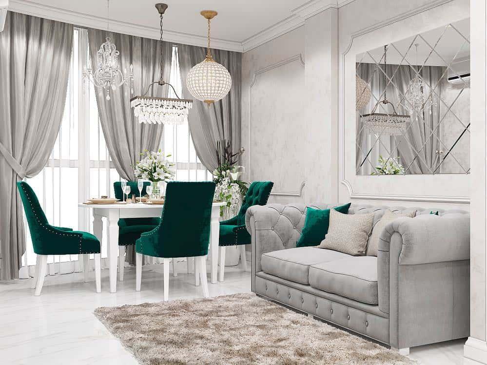 Cortinas modernas 2020: Cortinas actuales para sala de estar