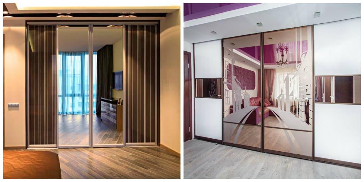 Armarios empotrados- grandes espejos que sirven de puerta para armarios
