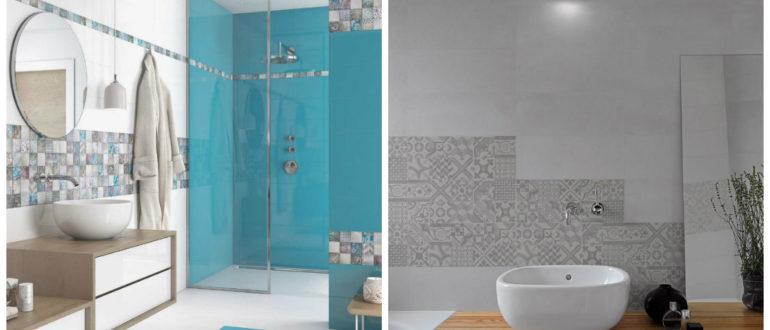 Azulejos para baños 2018- sugerencias y consejos modernas en el interior