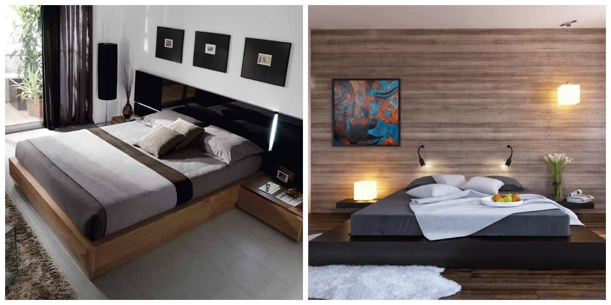 Camas de moda 2018- camas bajas para los espacios grandes