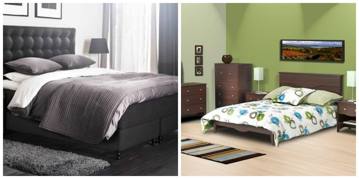 Camas de moda 2018- combinacion de camas con otros muebles