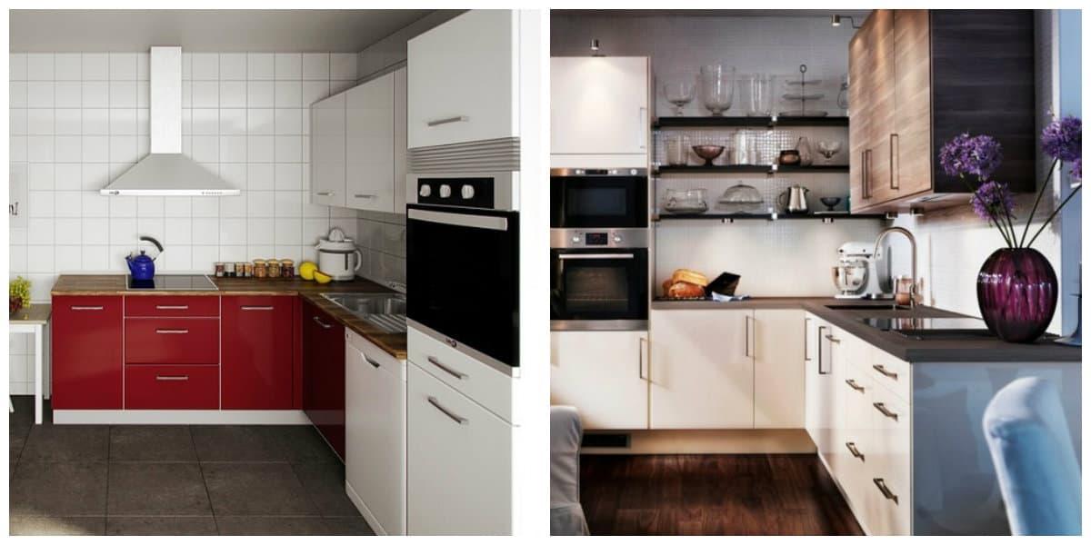 Cocina de esquina- la colocion correcta de los muebles para cocina