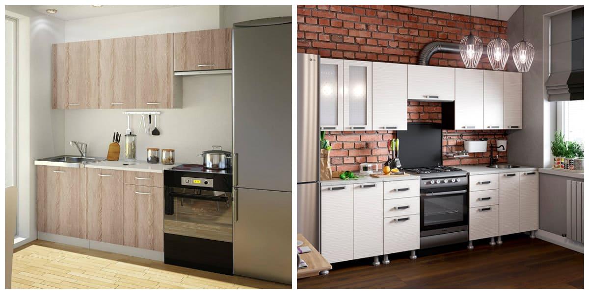 Conjunto de cocina- muebles en uso para decorar la cocina
