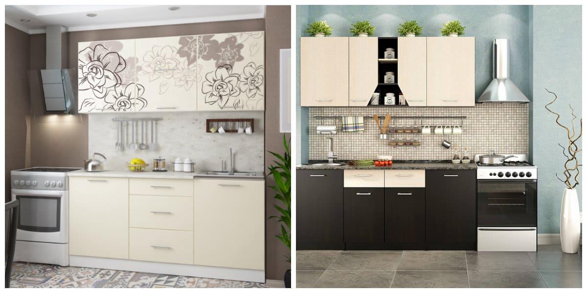 Conjunto de cocina- formas y texturas tanto viejos como nuevos