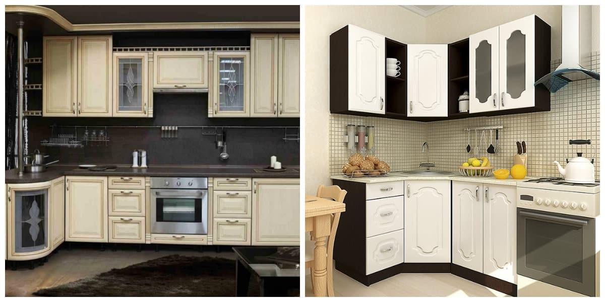 Conjunto de cocina- colores blanco y negro como moda principal