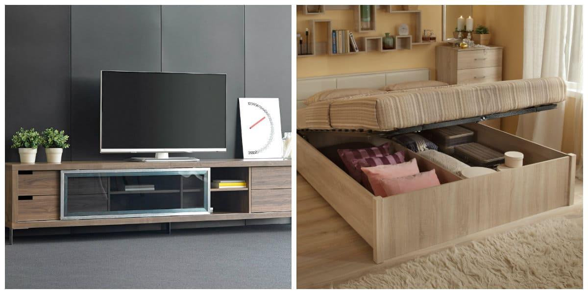 Decoración interiores 2018- combinacion de diferentes muebles en diseno