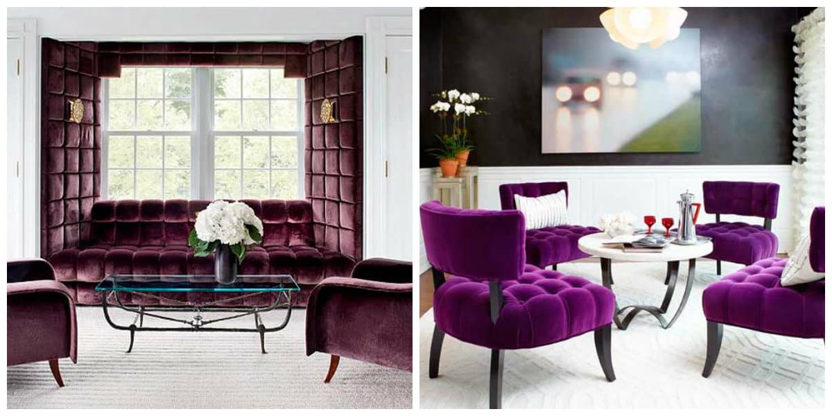 Decoración interiores 2018- muebles de terciopelo muy de moda