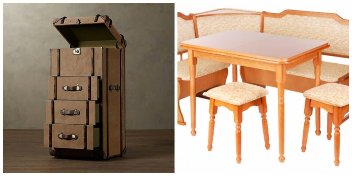Decoración interiores 2018- sillas y muebles de patas diferentes