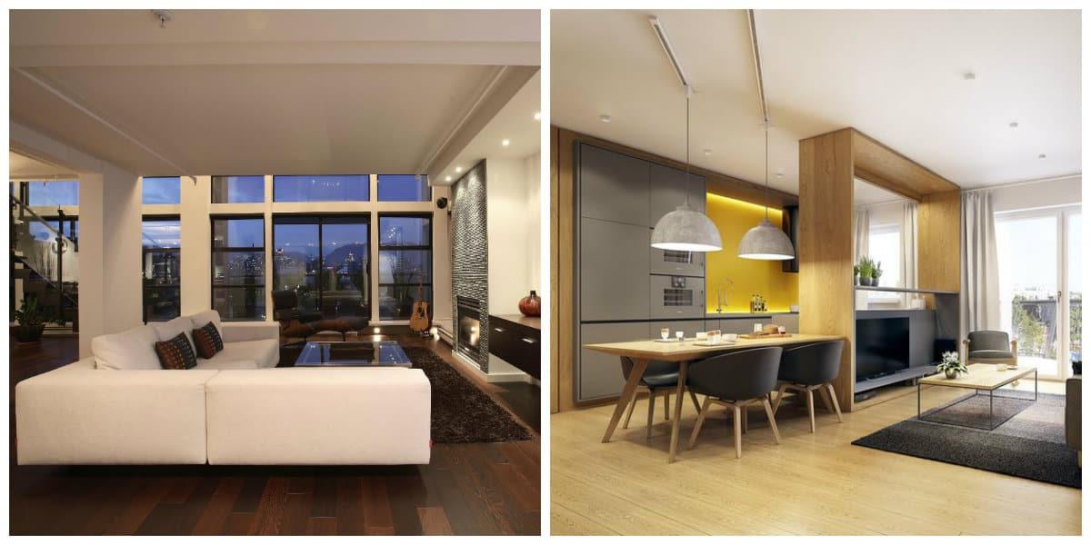 Diseño de deapartamentos - ideas y sugerencias para los salones modernos