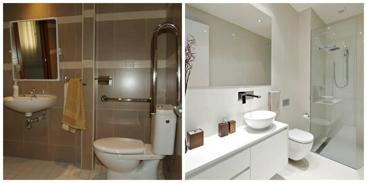 Diseño de baños pequeños- colores en uso para estar de moda