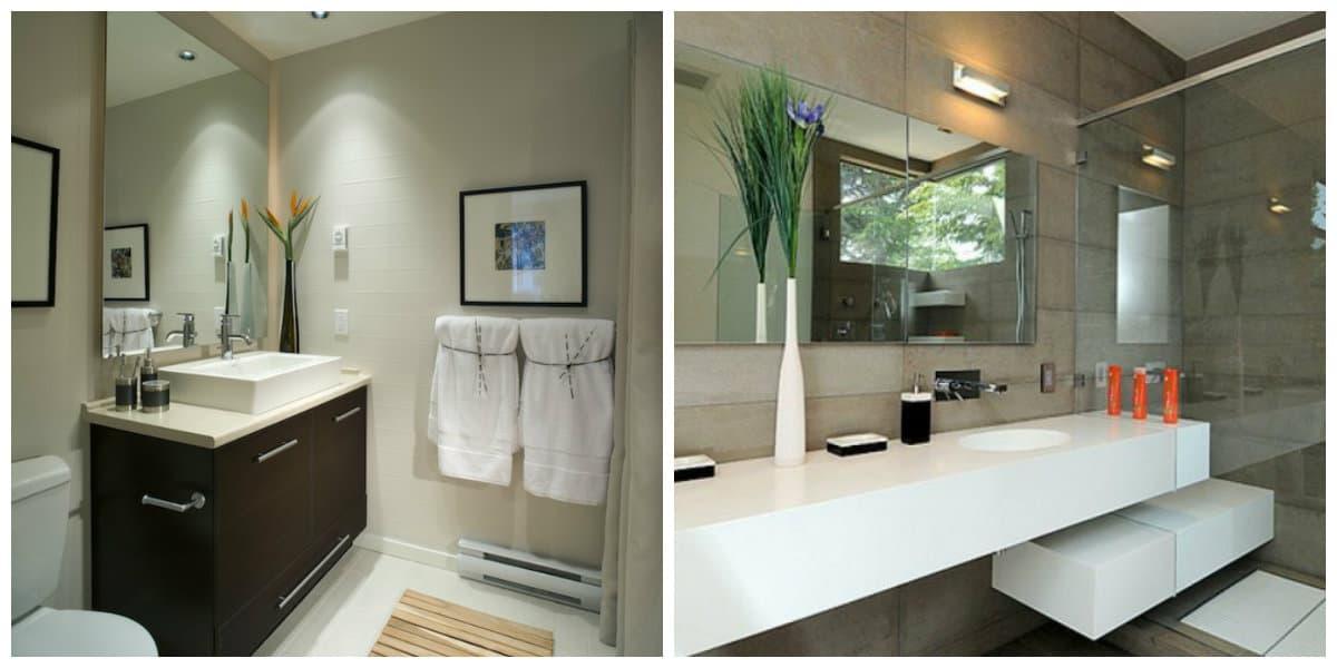 Diseño de baños pequeños- espejos como parte importante en los banos