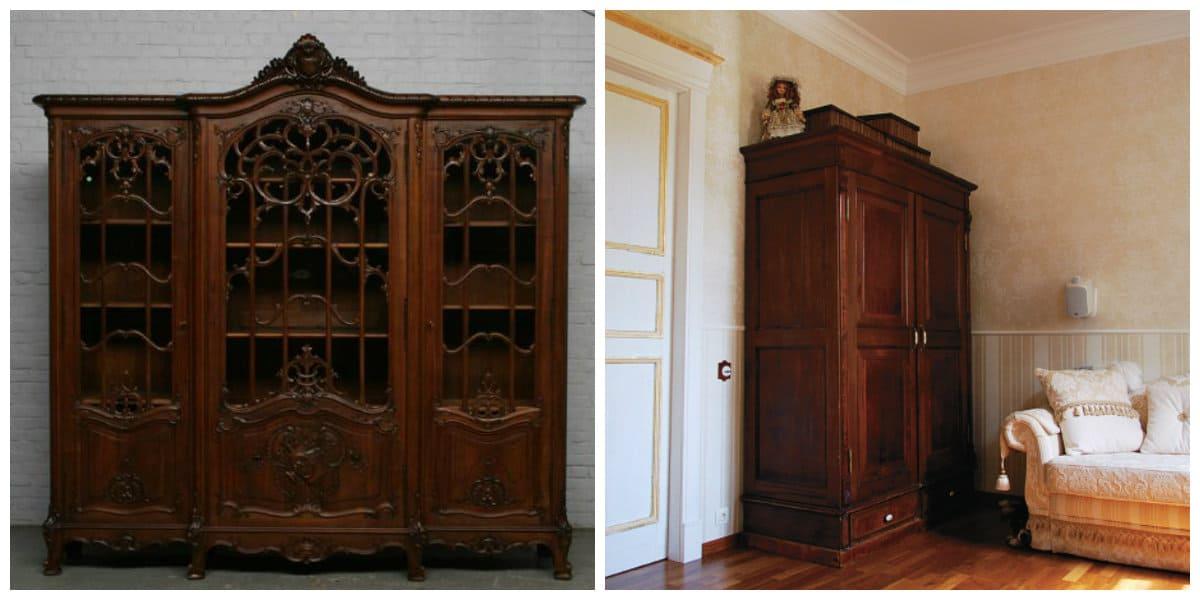 Diseño de gabinete- armarios en el estilo antiguo de boho