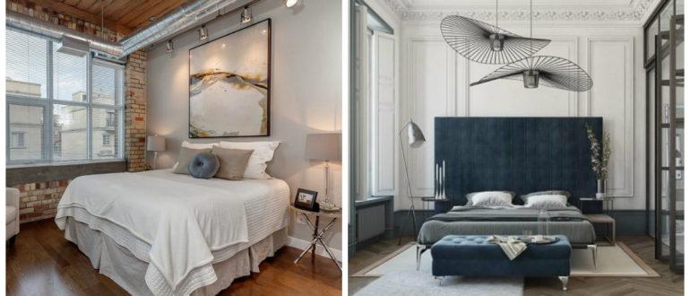 Dormitorios modernos- colores oscuros y claros en disenos de moda