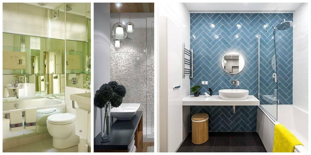 Ideas de baños- texturas interesantes sobre las paredes del bano