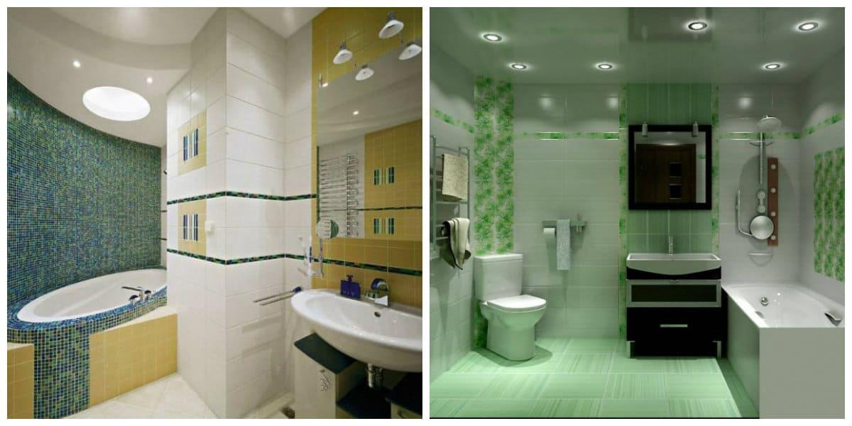 Ideas de baños- la combinacion de unos colores modernos en uso