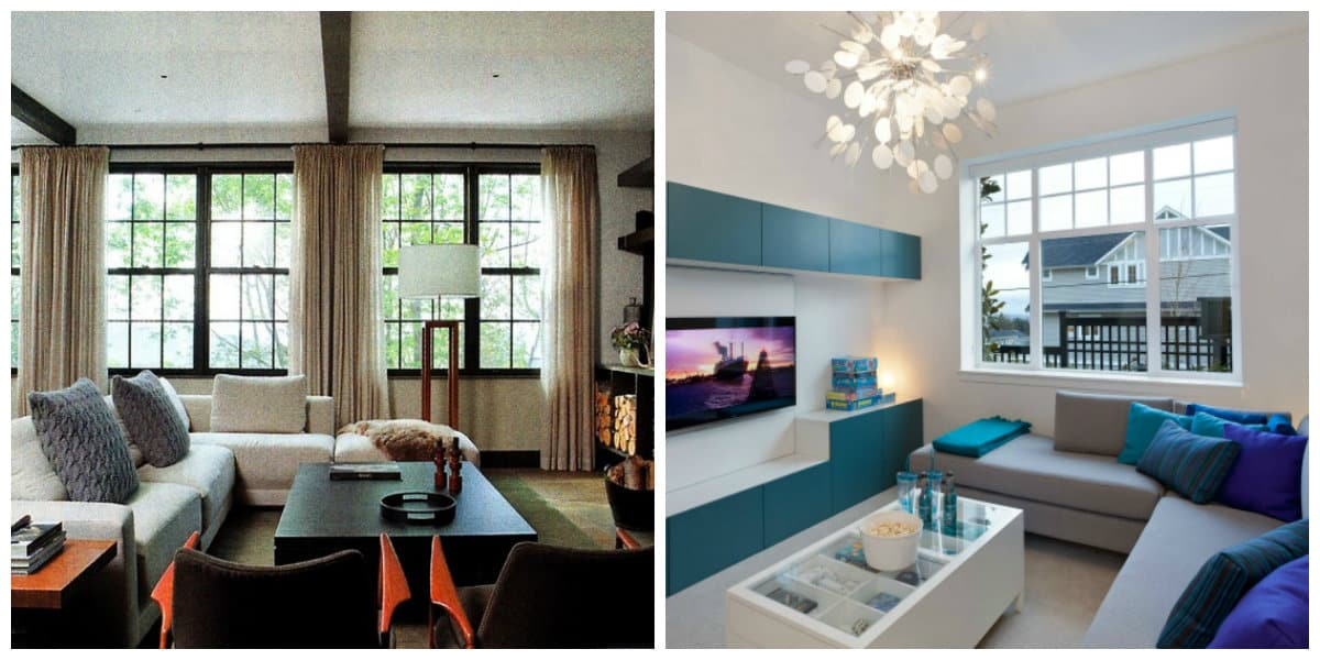 Ideas de salas de estar- colo azul con sus tonalidades de moda