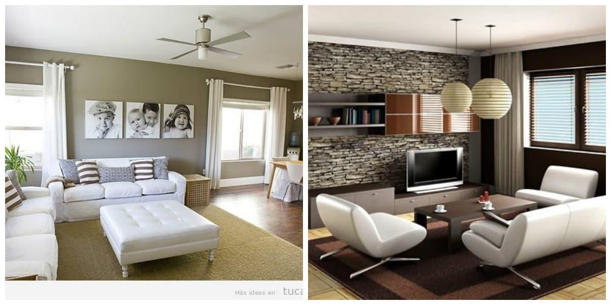 Ideas de salas de estar- uso de colores calmantes para ambientar tu salon