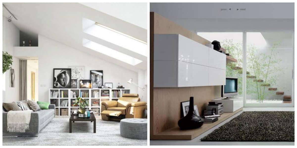 Ideas de salas de estar- libreria creativa en tu salon y vista hacia el jardin