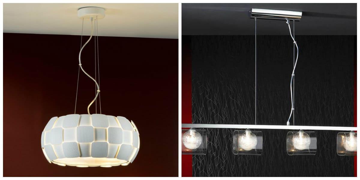 Lámparas modernas- tendencias principales para el salon