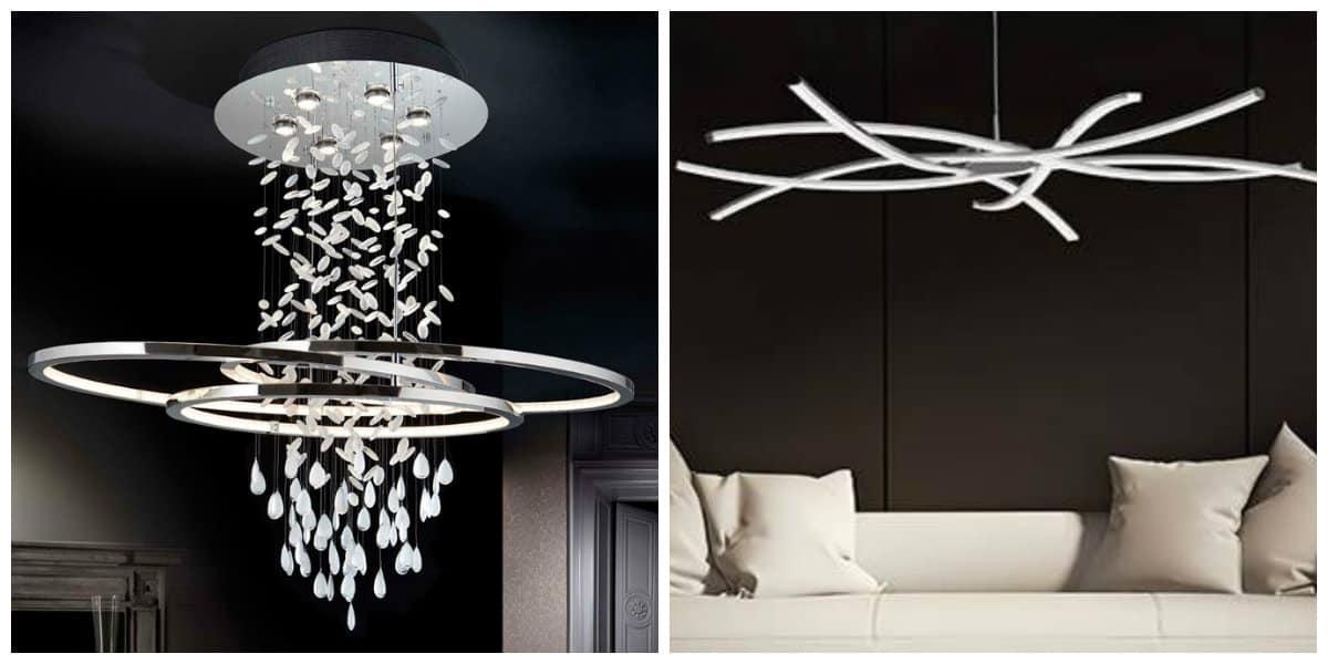 Lámparas modernas- ideas creativas para tu salon moderno