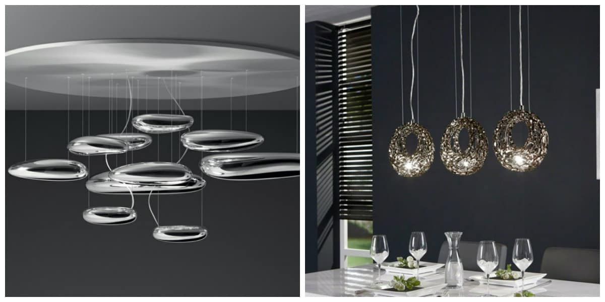 Lámparas modernas- creativas texturas para decorar tu salon