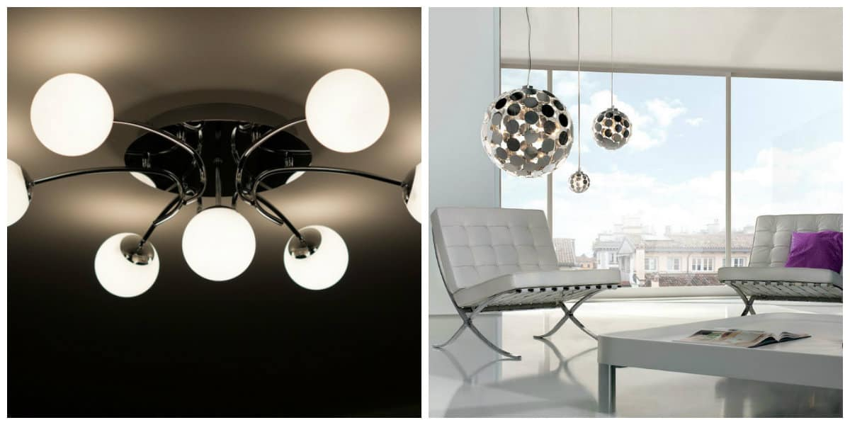 Lámparas modernas- formas redondas de las lamparas en tendencia