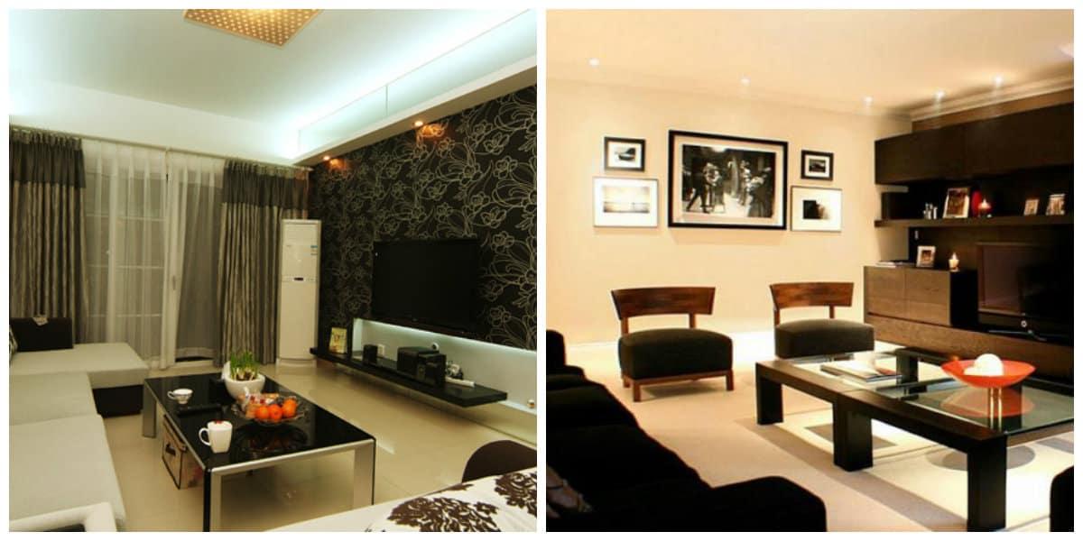 Modelos de salas modernas- todas las tendencias principales