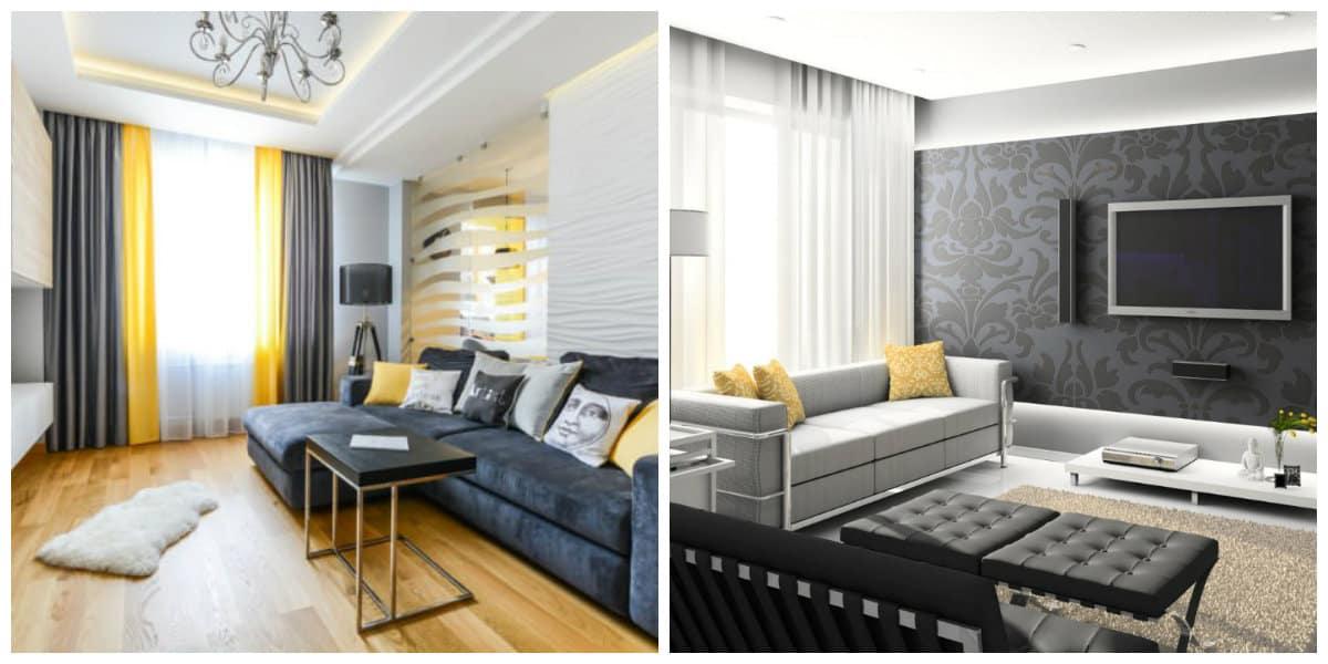 Modelos de salas modernas- uso de almohadas en el interior de moda
