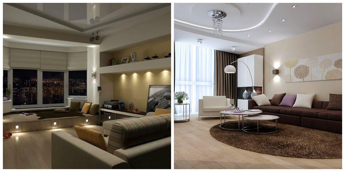 Modelos de salas modernas- iluminacion de los salones con lamparas