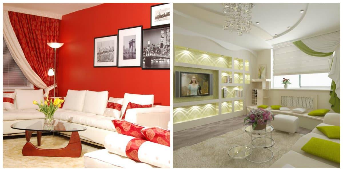 Modelos de salas modernas- uso de colores oscuros y claros de moda