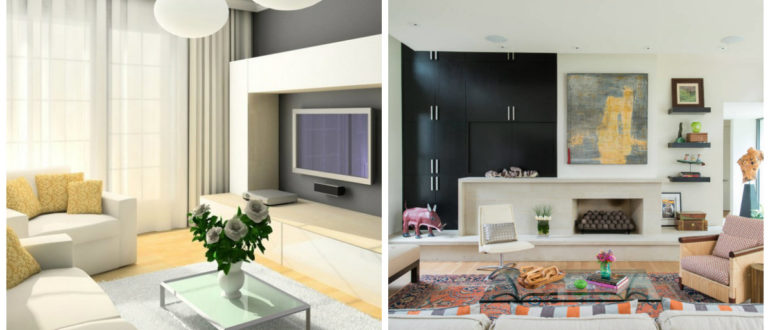 Modelos de salas modernas- accesoriso que se usan en salones de moda