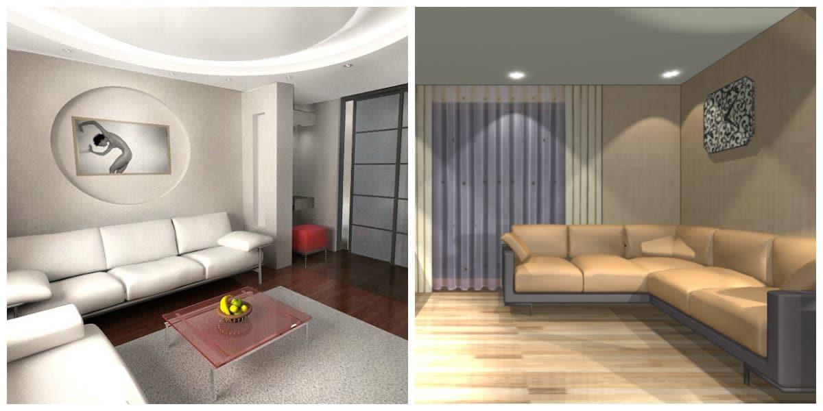 Modelos de salas modernas- sofas como elementos necesarios en el diseno