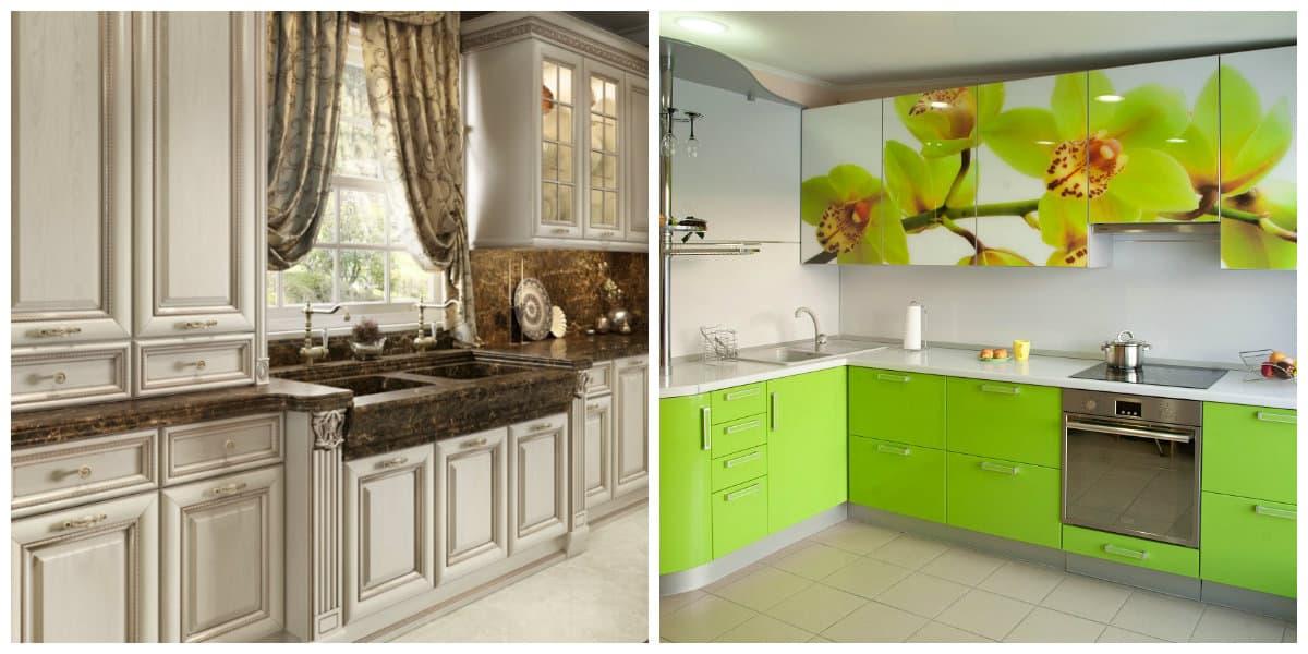 Paquetes de cocina- color verde y tonalidades de beige muy de moda