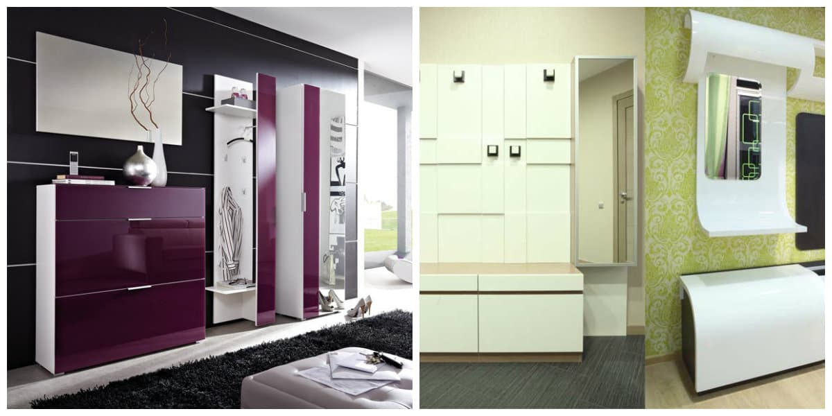 Pasillos modernos- contraste en gama de los colores de moda