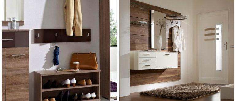 Pasillos modernos- madera como material principal para los muebles
