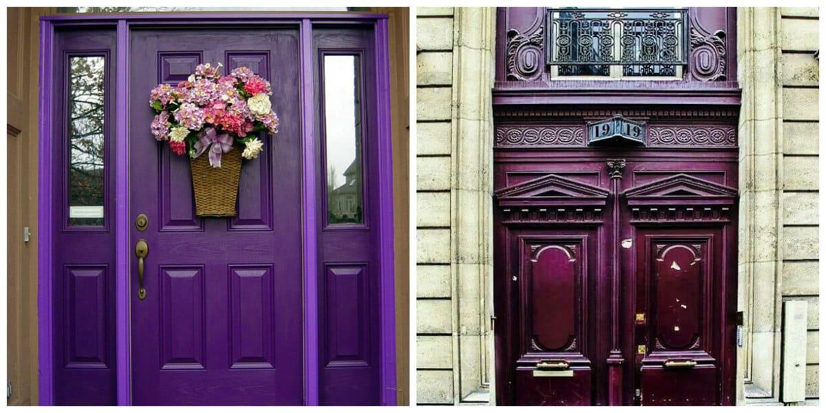 Puertas de entrada- color ultravioleta en cima de popularidad