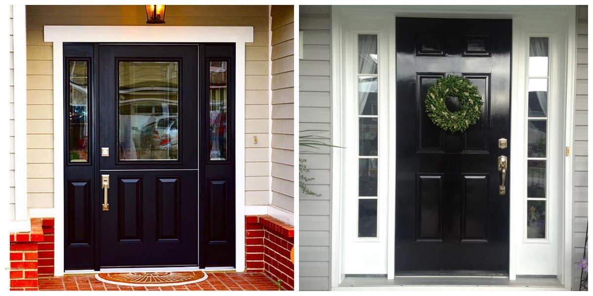 Puertas de entrada- color negro y Black flame de moda