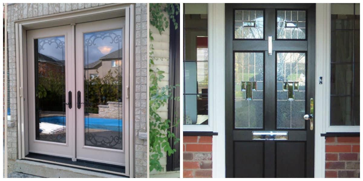 Puertas de entrada- vidrios para las puertas en tendencia