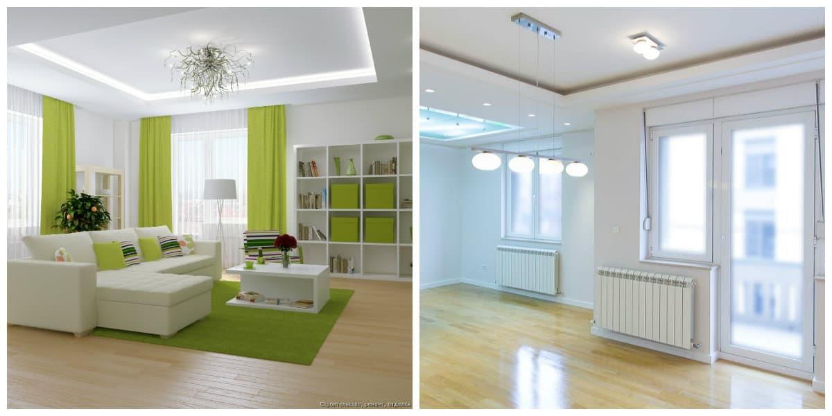 Reparaciones del hogar- colores claros para salas de estar modernas