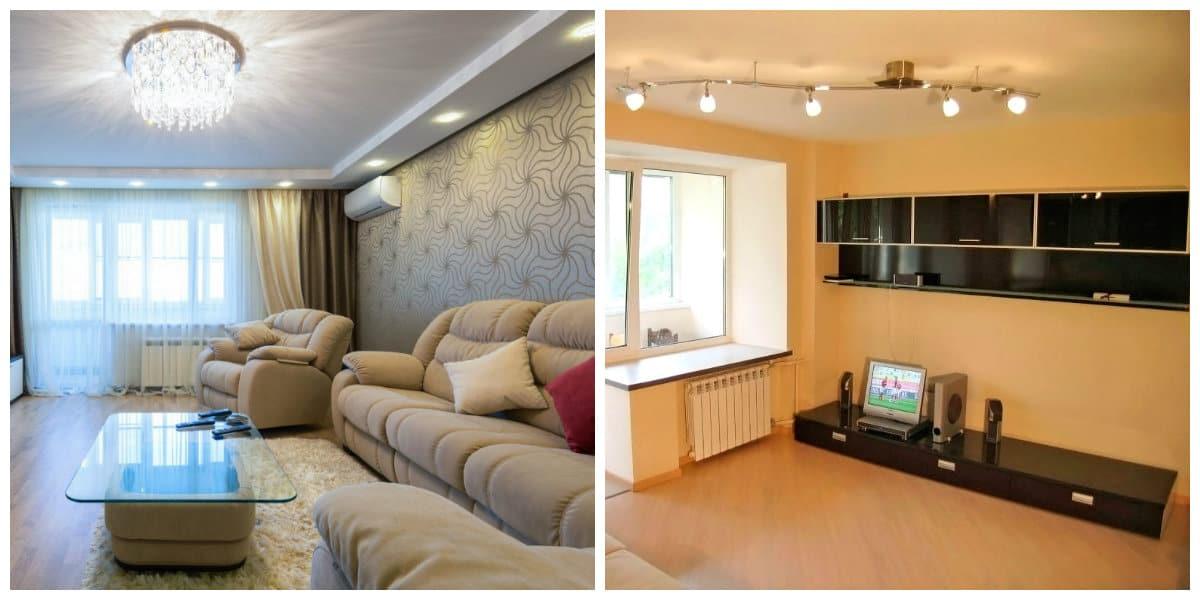 Reparaciones del hogar- renovadas salones en espacio y colores de moda