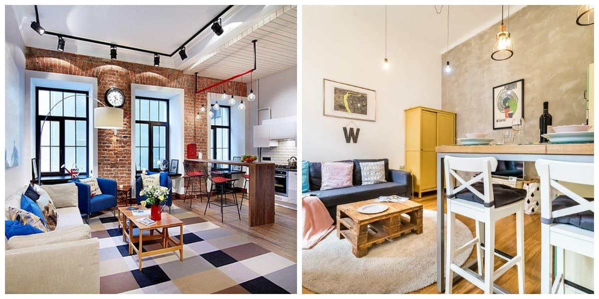 Apartamento estilo loft- uso de colores en combinaciones de moda