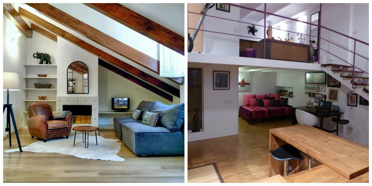 Apartamento loft- todas las tendencias principales representadas