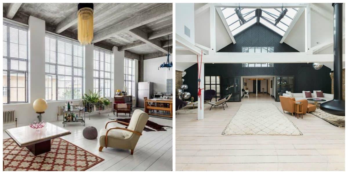 Apartamento loft- es un tipo de estilo de casa en el atico